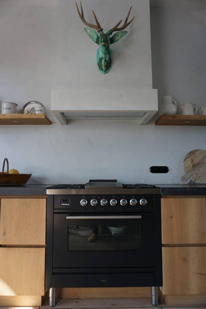 Handgemaakte eikenhouten keuken