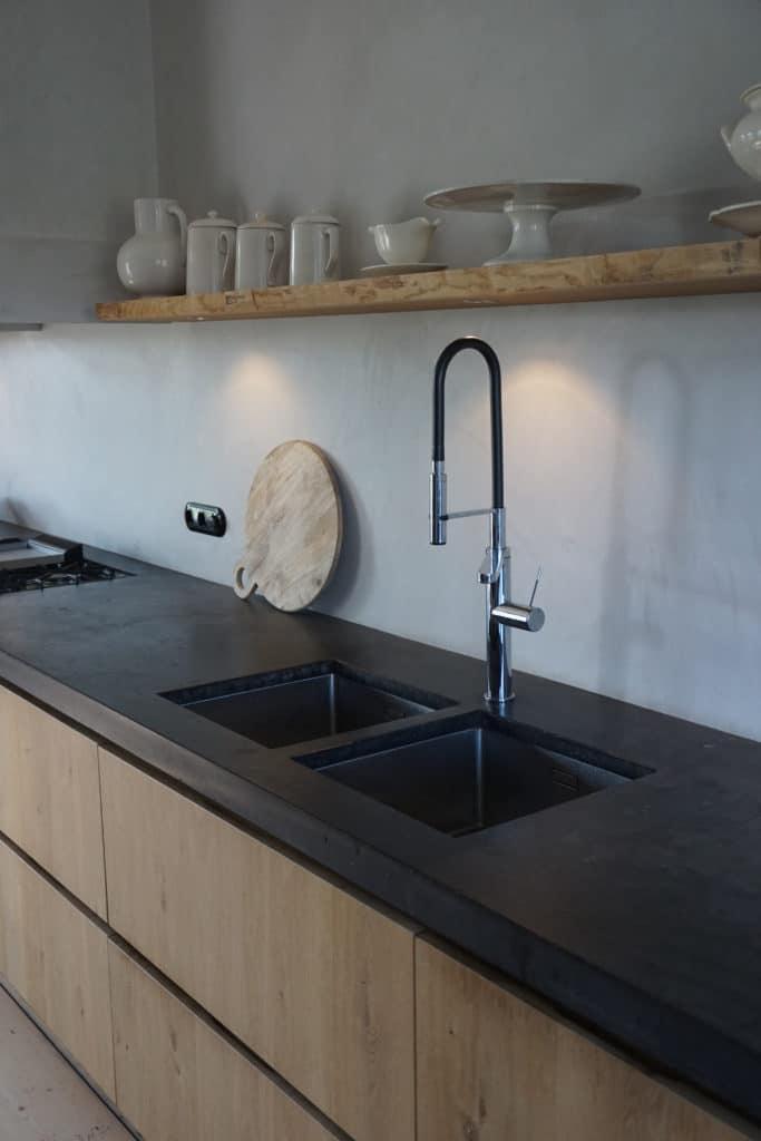 Rustieke keuken West-Graftdijk Eiken Beton