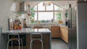 Moderne keuken Driehuizen Eiken Marmer 6